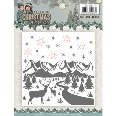 ADEMB10010 ~ Cut and Emboss Folder ~ Christmas Wishes  ~ Amy Design